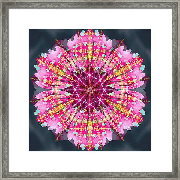 Pink Lightning Framed Print