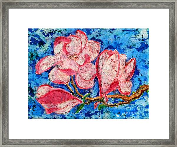 Pink Magnolias Framed Print