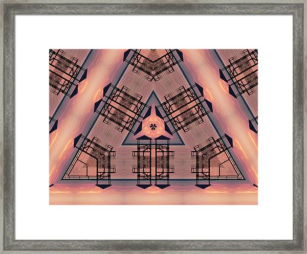 Pink Pier Kaleidoscope One Framed Print