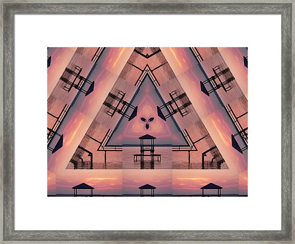 Pink Pier Kaleidoscope Two  Framed Print