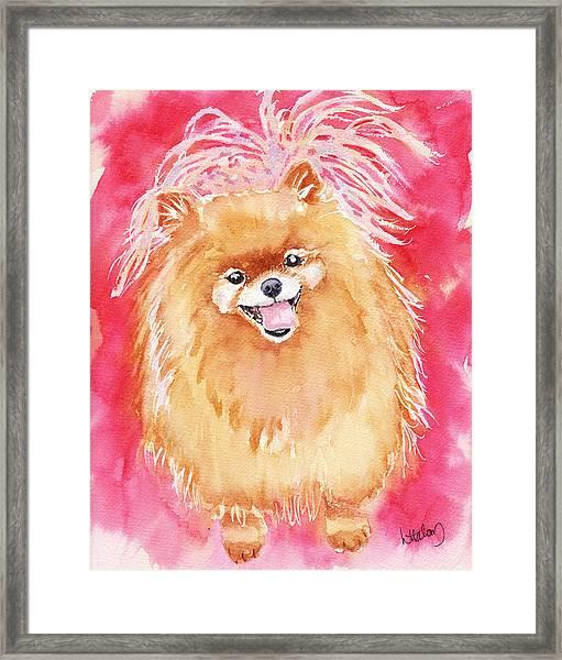 Pink Pom Framed Print