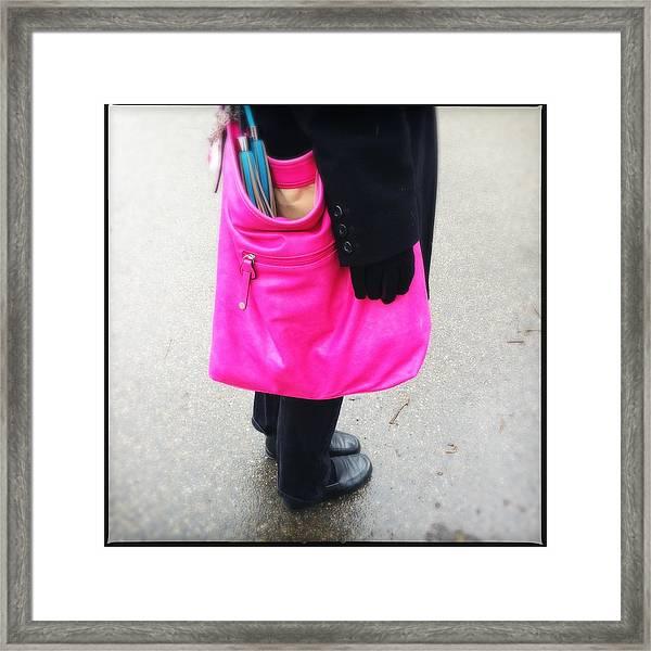 Pink Shoulder Bag Framed Print