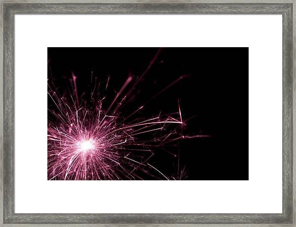 Pink Sparkle Framed Print