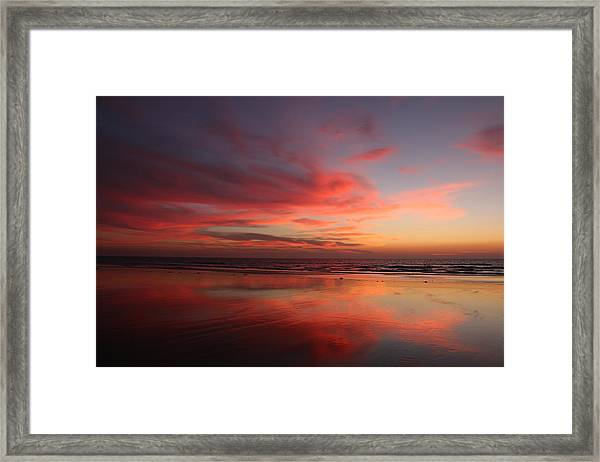 Ocean Sunset Reflected  Framed Print