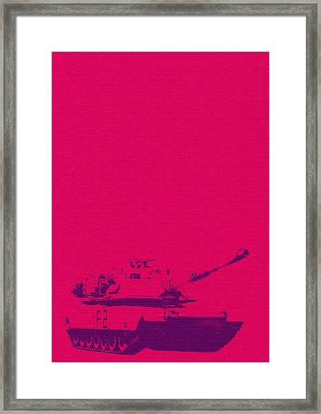 Pink Tank Framed Print