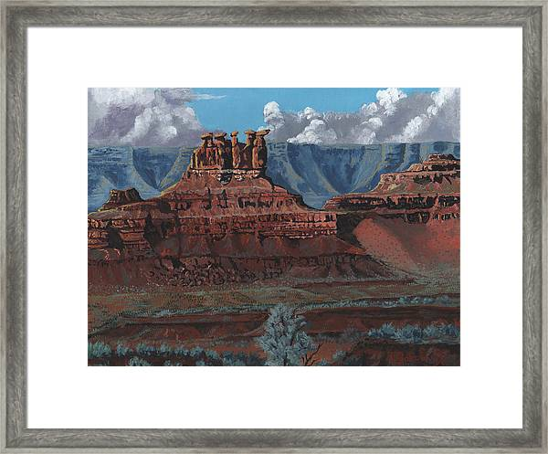 Pinnacles Of The West Framed Print