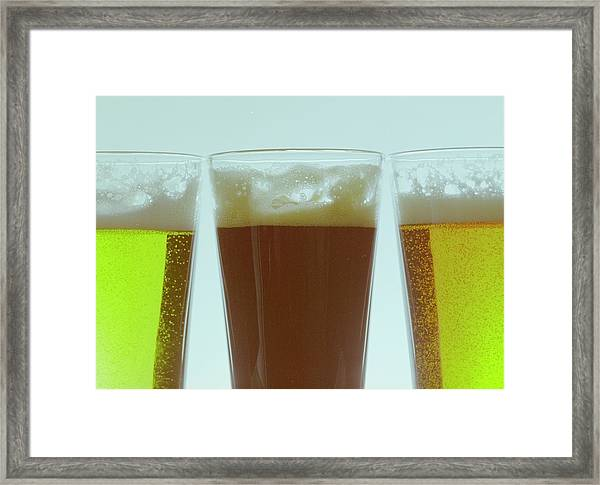 Pints Of Beer Framed Print