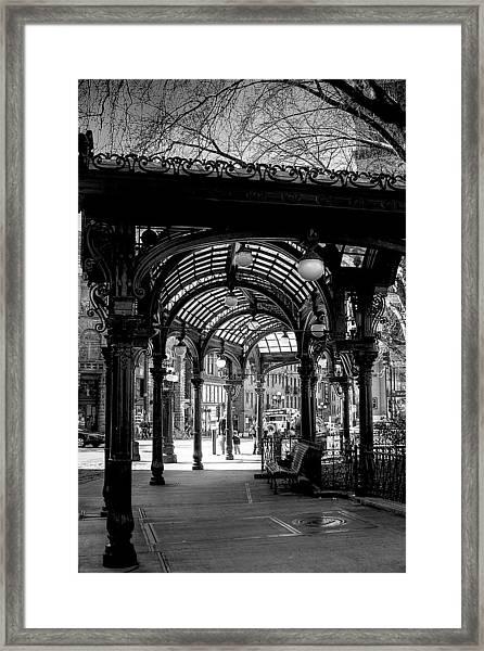 Pioneer Square Pergola Framed Print