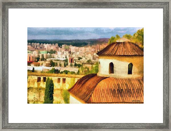 Pious Witness To The Passage Of Time Framed Print