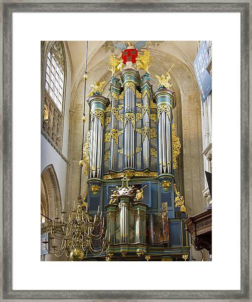 Pipe Organ In Breda Grote Kerk Framed Print