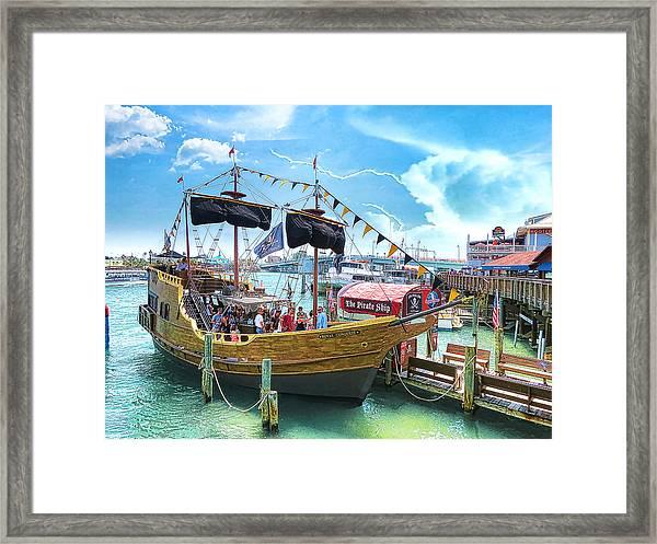 Pirate Ship Framed Print by Stephen Warren