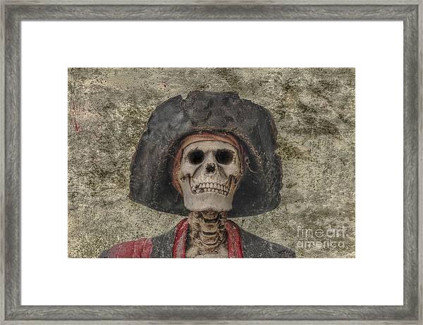 Pirate Skeleton Mug Shot Framed Print