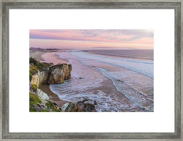 Pismo State Beach At Sunset Framed Print