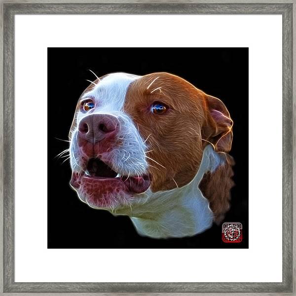 Pitbull 7769 - Bb - Fractal Dog Art Framed Print