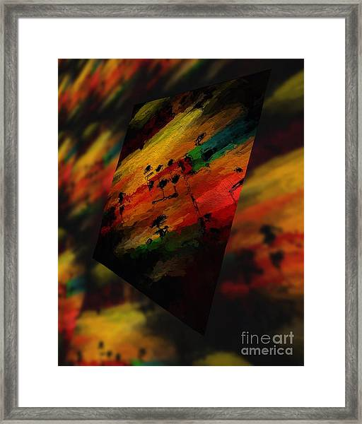 Pitch Space 5 Framed Print