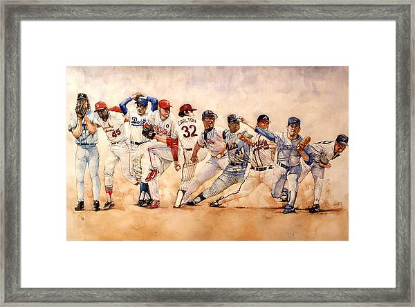 Pitching Windup  Framed Print