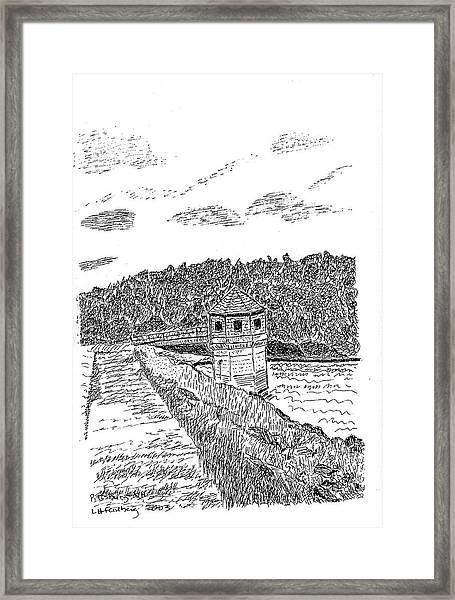 Pittsburg Dam Framed Print