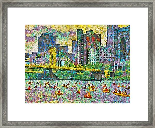 Pittsburgh Adventure Race Framed Print