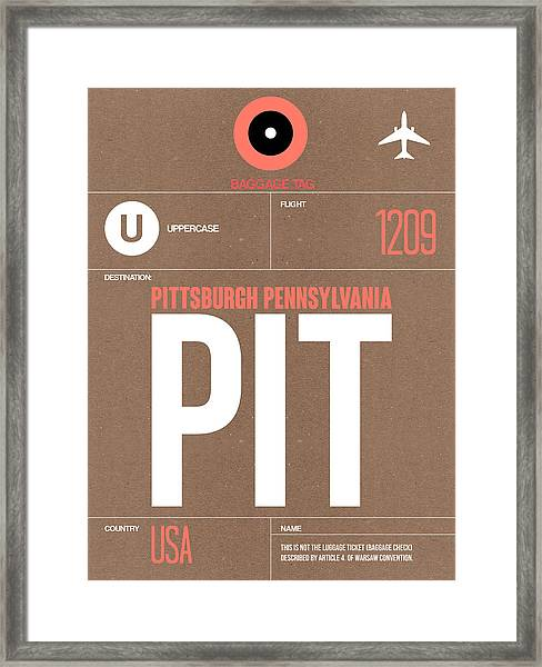 Pittsburgh Airport Poster 2 Framed Print