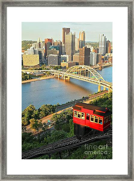 Pittsburgh Duquesne Incline Framed Print
