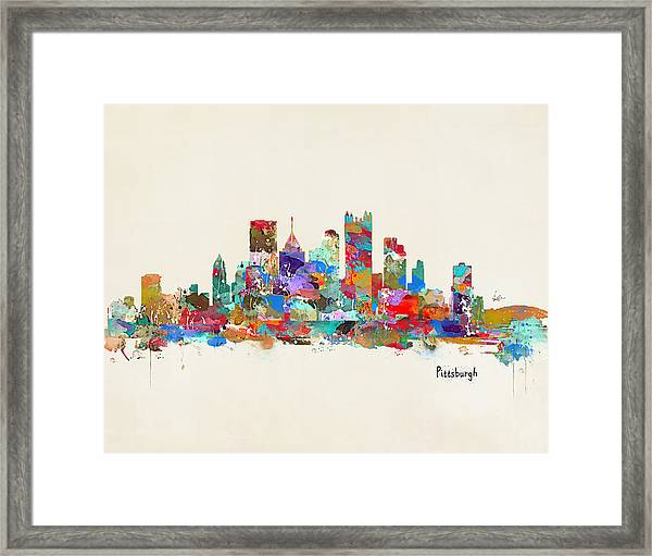 Pittsburgh Skyline Pennsylvania Framed Print