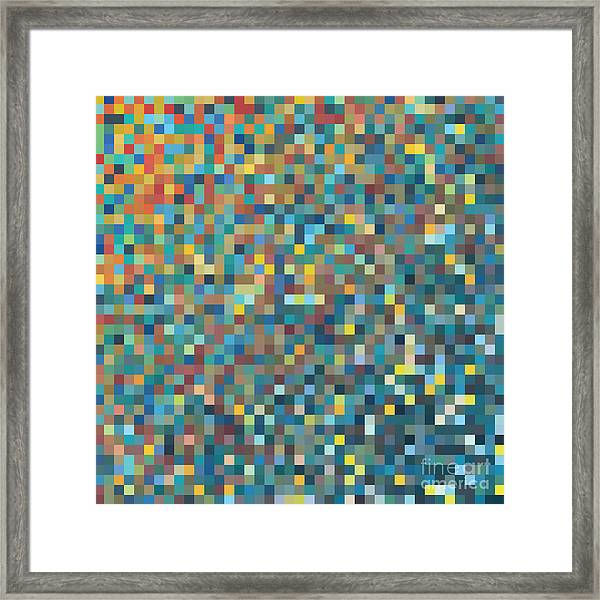 Pixel Art Vector Background Framed Print by Mike Taylor