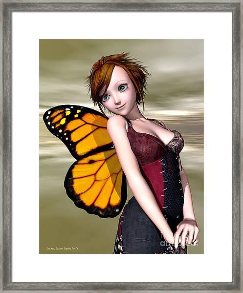 Pixie Framed Print by Sandra Bauser Digital Art