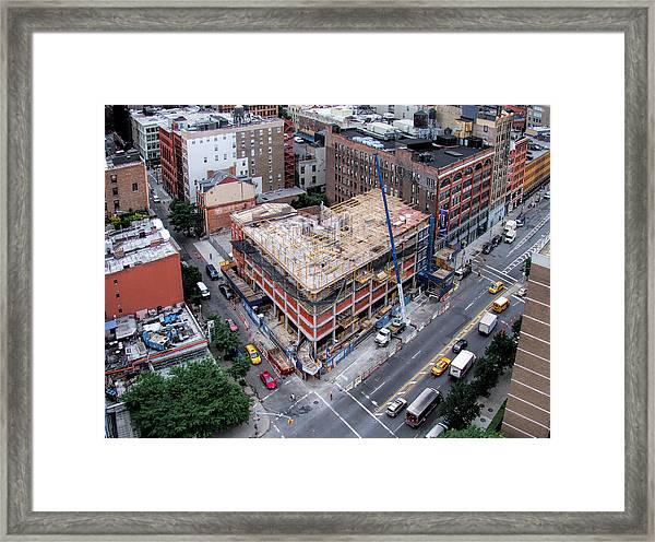 Placing Concrete Forms Framed Print