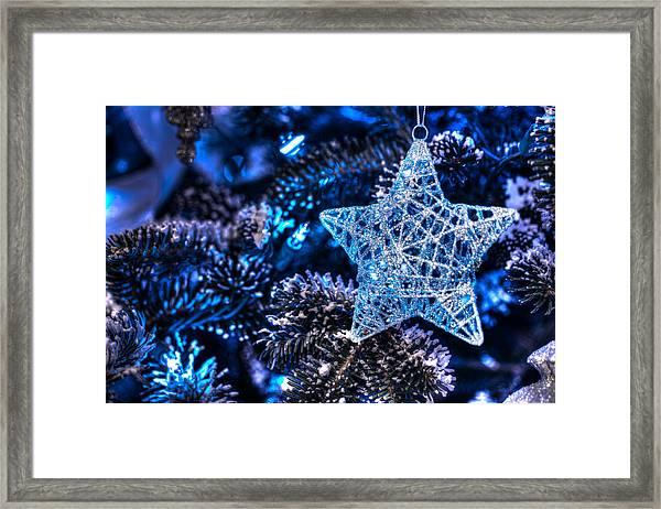 Blue Christmas Framed Print