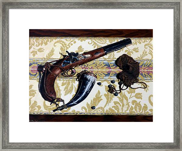 Plains Pistol Framed Print