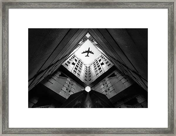 Plane City Framed Print