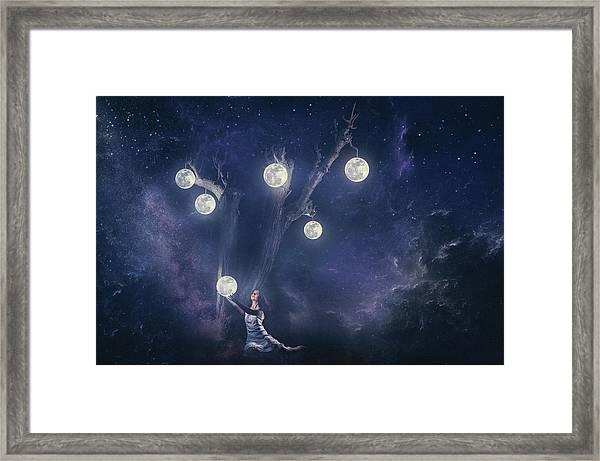 Planet Holder Framed Print
