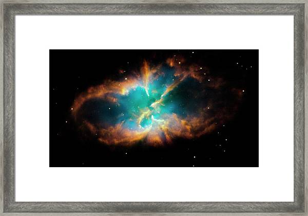 Planetary Nebula Ngc 2818 Framed Print by Nasa/esa/stsci/hubble Heritage Team/science Photo Library
