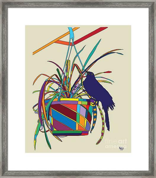 Plant Bird Pop Framed Print
