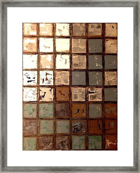 Plastered Wall Framed Print