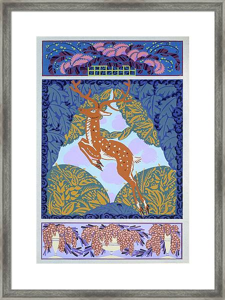 Plate 1, From Forms And Colors, Circa 1930 Framed Print