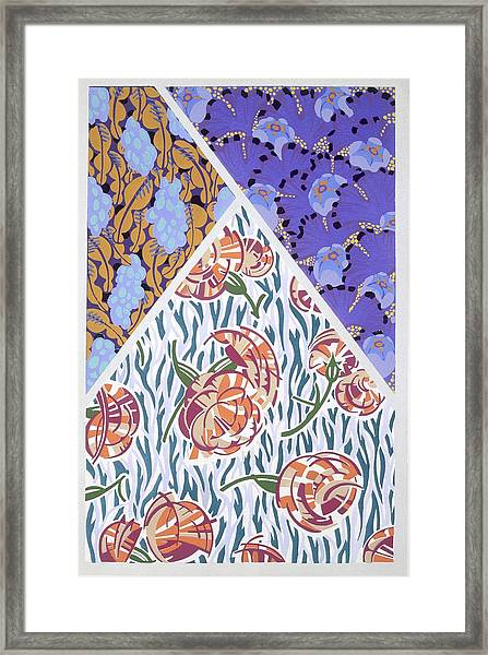 Plate 16, From Forms And Colours, C.1930 Framed Print