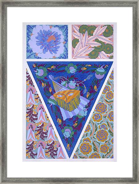 Plate 3, From Forms And Colours, C.1930 Framed Print