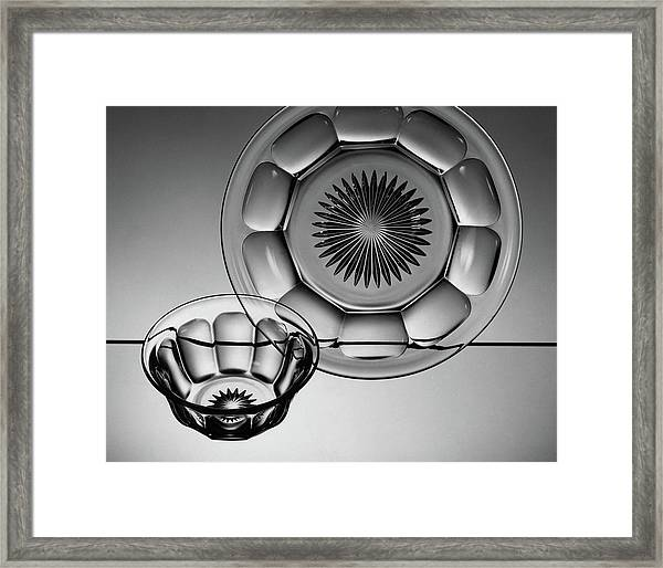 Plate And Bowl Framed Print