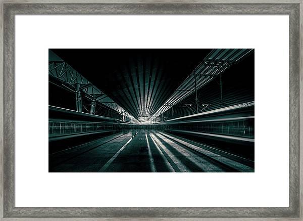 Platform Beijing Framed Print