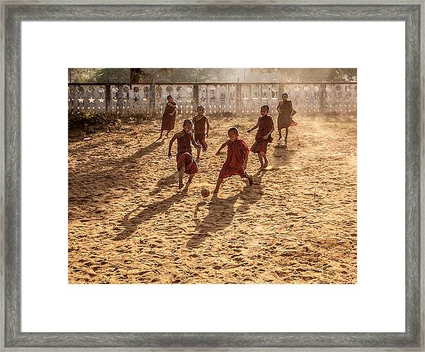 Play Is Equally Important As Pray Framed Print