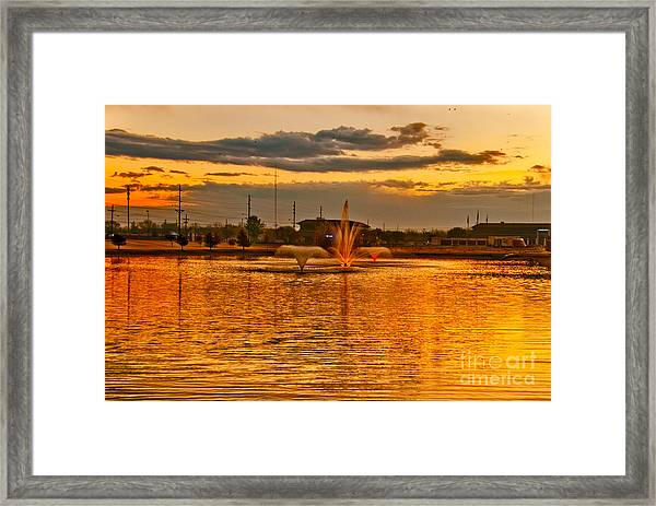 Framed Print featuring the photograph Playa Lake At Sunset by Mae Wertz