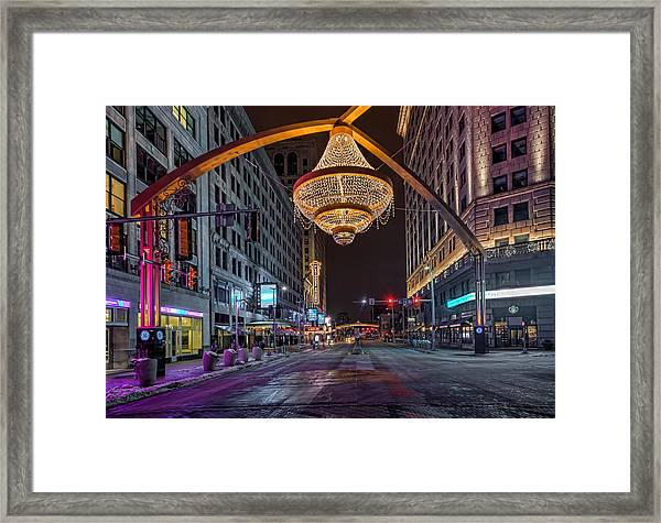 Playhouse Square Chandelier  Framed Print