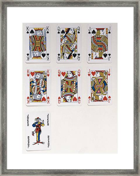 Playing Cards, Including A King, Queen And Jack Of Hearts And Spades And A  Joker by Dorling Kindersley