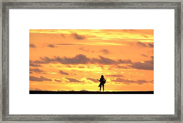 Playing To The Sun Framed Print