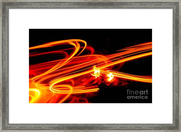 Playing With Fire 4 Framed Print