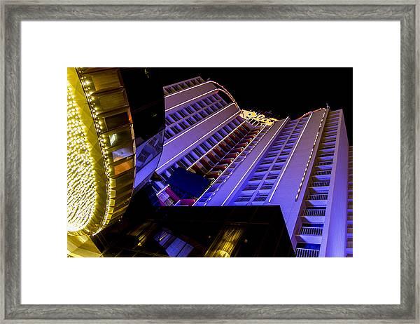 Plaza Hotel Downtown Vegas Framed Print