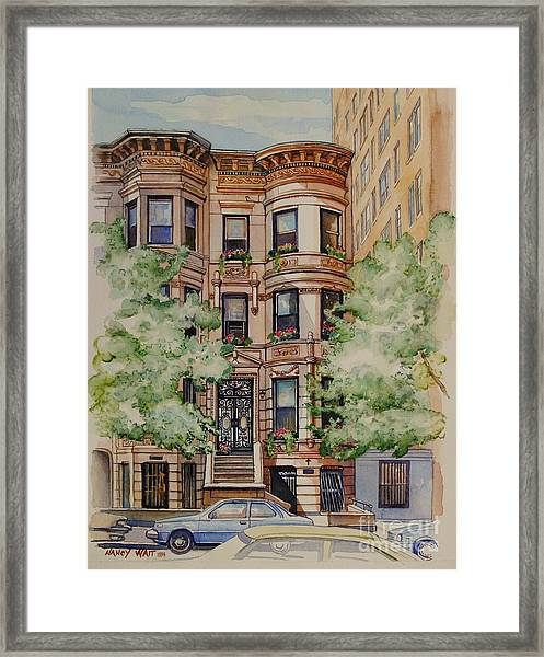 Plaza Street West 1994 Framed Print