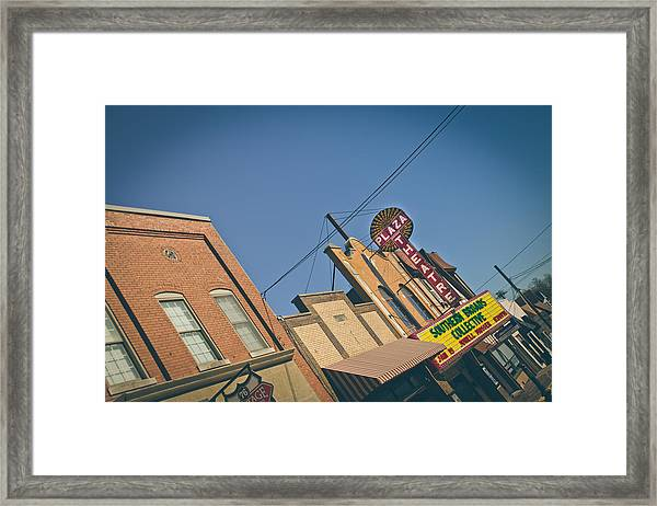 Plaza Theatre Framed Print