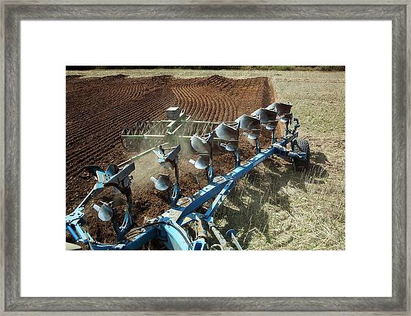 Ploughing A Field Framed Print